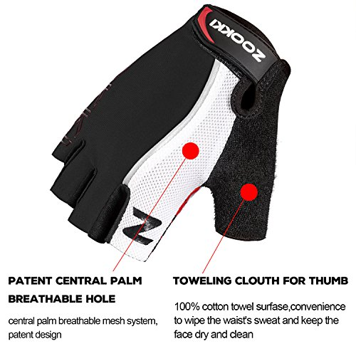 Zookki-Cycling-Gloves-Mountain-Bike-Gloves-Road-Racing-Bicycle-Gloves-Light-Silicone-Gel-Pad-Riding-Gloves-Half-Finger-Biking-Gloves-MenWomen-Work-Gloves-0-3