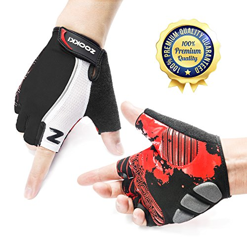 Zookki-Cycling-Gloves-Mountain-Bike-Gloves-Road-Racing-Bicycle-Gloves-Light-Silicone-Gel-Pad-Riding-Gloves-Half-Finger-Biking-Gloves-MenWomen-Work-Gloves-0