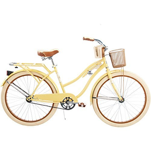 26-Huffy-Nel-Lusso-Womens-Cruiser-Bike-Butter-Yellow-0