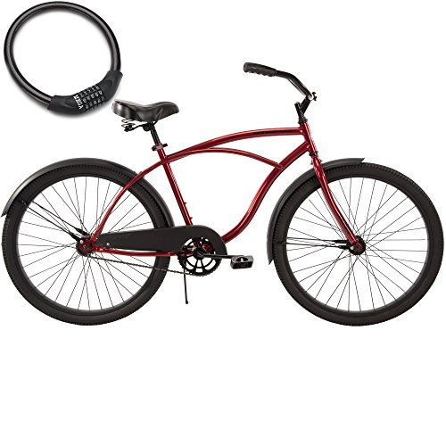 26-Inch-Huffy-Mens-Cranbrook-Steel-Frame-Cruiser-Bike-for-Adults-with-Cable-Lock-0
