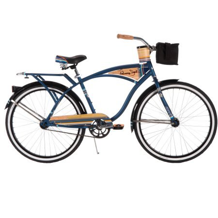 26-Mens-Panama-Jack-Cruiser-Single-Speed-Bike-in-Matte-Midnight-Blue-with-Padded-Saddle-in-Classic-Steel-Frame-0