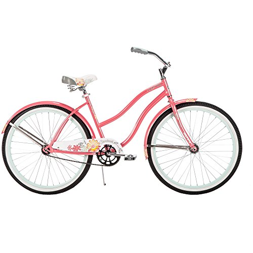 Durable-and-Comfortable-Ride-26-Cranbrook-Cruiser-with-Classic-Fenders-Quick-Release-for-Easy-Adjustment-Best-Ride-for-School-Neighborhood-or-Town-in-Coral-Pink-0