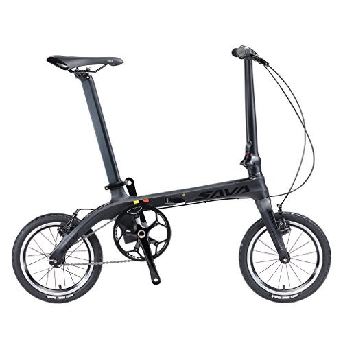 Folding-Bike-SAVADECK-14-inch-Carbon-Fiber-Frame-Fixed-Gear-Single-Speed-Fixie-Urban-Track-Bike-Mini-City-Foldable-Bicycle-with-Headlights-0