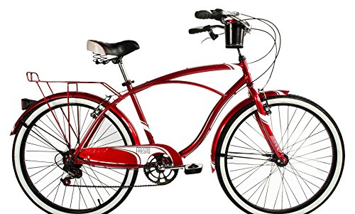 Huffy-26-Mens-Fresno-Cruiser-Bicycle-7-Speed-Red-0