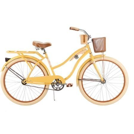 NEW-26-Huffy-Nel-Lusso-Womens-Cruiser-Bike-Yellow-0
