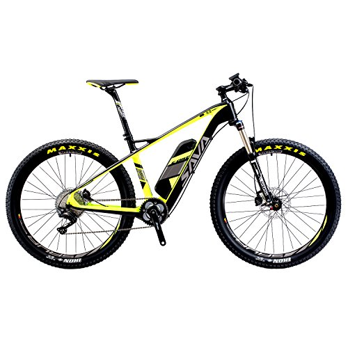 SAVADECK-Carbon-Fiber-Electric-Mountain-Bike-275-inch-e-bike-Pedal-assist-MTB-Pedelec-Bicycle-with-Shimano-11-Speed-and-Removable-36V-14Ah-SAMSUNG-Li-ion-Battery-Black-Green-0