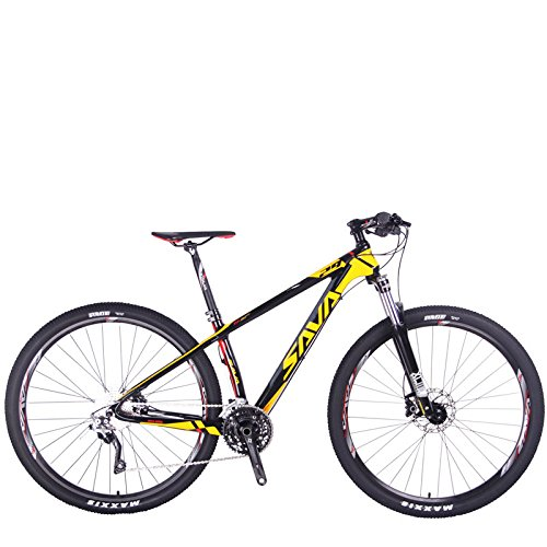 SAVADECK-DECK300-Carbon-Fiber-Mountain-Bike-2627529-Complete-Hard-Tail-MTB-Bicycle-30-Speed-SHIMANO-M610-DEORE-Group-Set-0