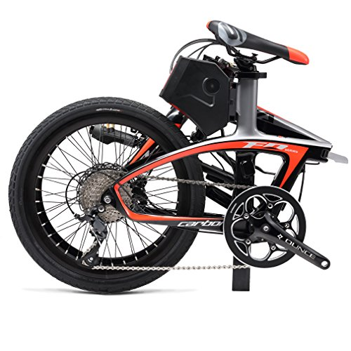 SAVADECK-E6-Electric-Bicycle-Carbon-Fiber-20-Folding-E-bike-36V-250W-Pedal-assist-Pedelec-Foldable-Bicycle-with-SHIMANO-SORA-9-Speed-and-Removable-36V-58Ah-SAMSUNG-Li-ion-Battery-0-0
