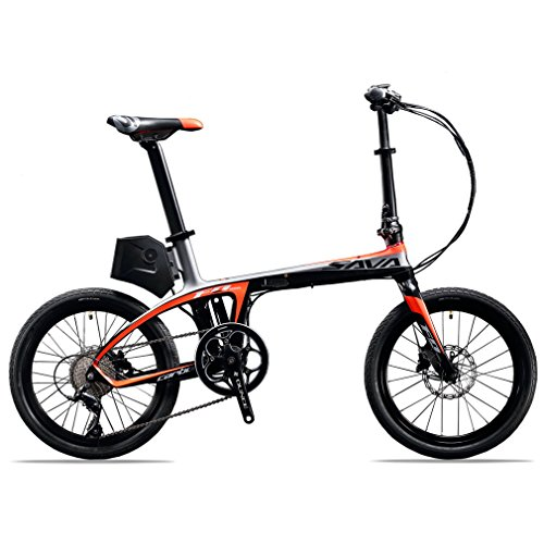 SAVADECK-E6-Electric-Bicycle-Carbon-Fiber-20-Folding-E-bike-36V-250W-Pedal-assist-Pedelec-Foldable-Bicycle-with-SHIMANO-SORA-9-Speed-and-Removable-36V-58Ah-SAMSUNG-Li-ion-Battery-0