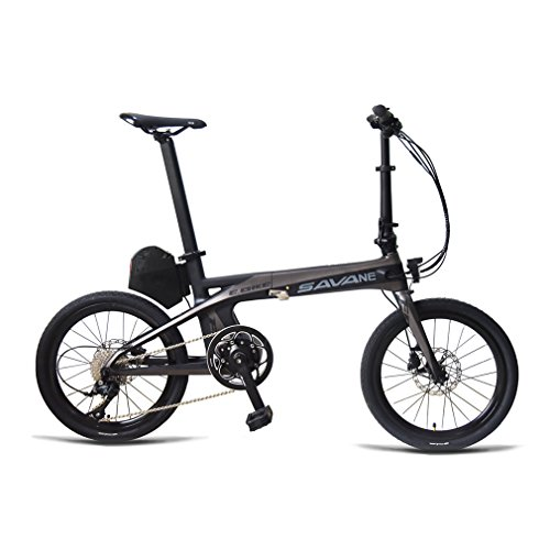 SAVADECK-E8-Electric-Bicycle-Carbon-Fiber-20-Folding-E-bike-36V-180W-Pedal-assist-Pedelec-Foldable-Bicycle-with-SHIMANO-SORA-9-Speed-and-Removable-36V-87Ah-SAMSUNG-Li-ion-Battery-0