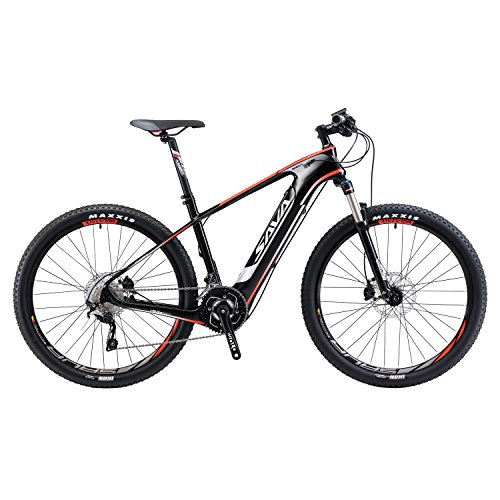SAVADECK-Knight-90-Carbon-Fiber-e-bike-275-inch-Electric-Mountain-Bike-Pedal-assist-MTB-Pedelec-Bicycle-with-Shimano-SLX-20-Speed-and-Removable-36V-104Ah-SAMSUNG-Li-ion-Battery-0