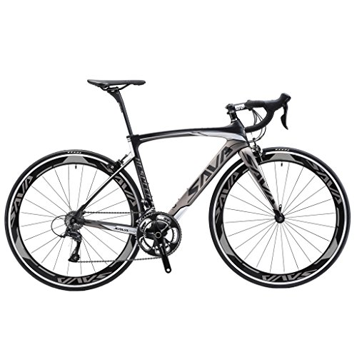 SAVADECK-T700-Carbon-Fiber-700C-Road-Bike-with-SHIMANO-3000-18-Speed-Derailleur-System-and-Double-V-Brake-0