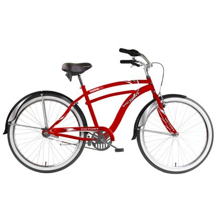 Victory-Mens-Touring-One-Cruiser-Bike-RedWhite-26-X-18-Inch-0