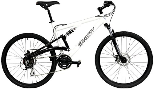 2018-Gravity-FSX-10-Dual-Full-Suspension-Mountain-Bike-with-Disc-Brakes-Shimano-Shifting-White-17in-0