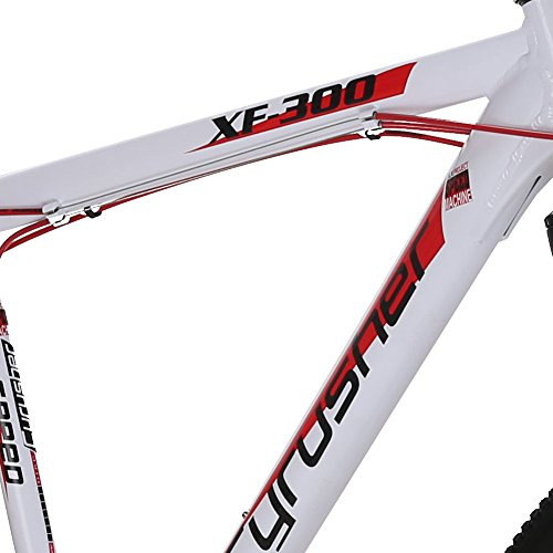 21-Frame-275-Hardtail-Mountain-Bike-MTB-Cyrusher-XF300-Shimano-24-Speed-Aluminum-Frame-Quick-Release-Wheels-Dual-Disc-Brakes-Suspension-Fork-White-Red-0-2