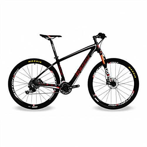 BEIOU-Carbon-Fiber-650B-Mountain-Bike-275-Inch-107kg-T800-Ultralight-Frame-30-Speed-SHIMANO-M610-DEORE-MTB-Matte-3K-CB20-Black-17-Inch-0