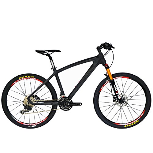 BEIOU-Carbon-Fiber-Mountain-Bike-Hardtail-MTB-1065-kg-SHIMANO-M610-DEORE-30-Speed-Ultralight-Frame-RT-26-Professional-Internal-Cable-Routing-Toray-T800-Carbon-Hubs-Matte-CB024A-Black-21-Inch-0