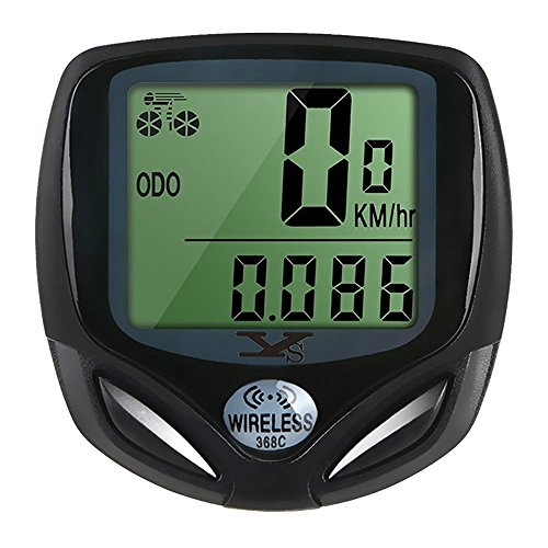 Bicycle-Speedometer-and-Odometer-Wireless-Waterproof-Cycle-Bike-Computer-with-LCD-Display-Multi-Functions-by-YS-0