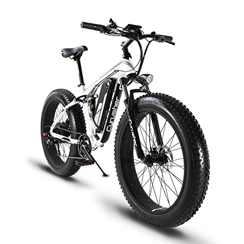 Cyrusher-Fat-Tire-Electric-Bike-1000W-Snow-E-Bike-Beach-Cruiser-48-volt-Men-Women-Dual-Suspension-XF800-Off-Road-Mountain-e-Bike-Pedal-Assist-Lithium-Battery-Hydraulic-Disc-Brakes-Shimano-7-Speeds-0
