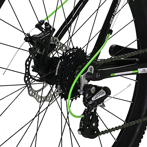 Cyrusher-XF300-275-Hardtail-Mountain-Bike-MTB-Shimano-24-Speed-19-Frame-Aluminum-Frame-Quick-Release-Wheels-Dual-Disc-Brakes-Suspension-Fork-Green-Black-0-1