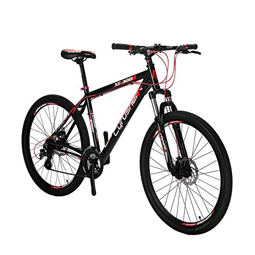 VTSP-XF300-21-Frame-Aluminum-Frame-Mountain-Bike-MTB-Shimano-24-Speed-Dual-Disc-Brakes-Suspension-Fork-Gift-For-Unisex-Black-Friday-Promotion-Ships-From-US-Warehouse-black-red-0