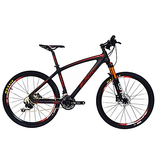 BEIOU-Carbon-Fiber-Mountain-Bike-Hardtail-MTB-1065-kg-SHIMANO-M610-DEORE-30-Speed-Ultralight-Frame-RT-26-Professional-Internal-Cable-Routing-Toray-T800-Carbon-Hubs-Matte-CB024B-Red-21-Inch-0
