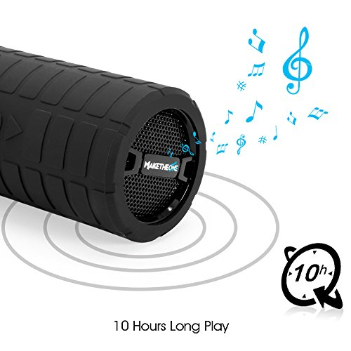 Portable-Bluetooth-Speaker-Box-MakeTheOne-Shockproof-and-Waterproof-Mountain-Bike-Bicycle-Wireless-Speaker-with-HiFi-Bass-for-iPhone-Samsung-Smart-Phone-and-Tablet-Black-0-1