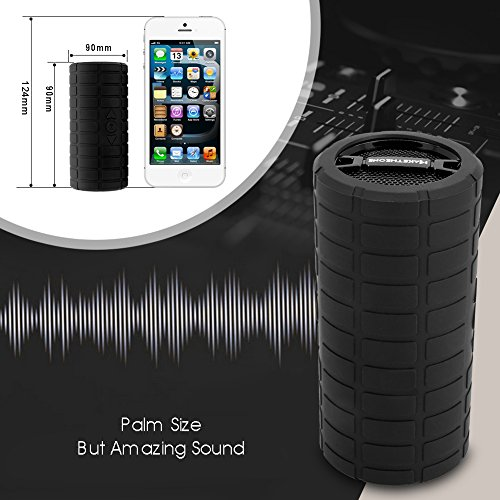 Portable-Bluetooth-Speaker-Box-MakeTheOne-Shockproof-and-Waterproof-Mountain-Bike-Bicycle-Wireless-Speaker-with-HiFi-Bass-for-iPhone-Samsung-Smart-Phone-and-Tablet-Black-0-3