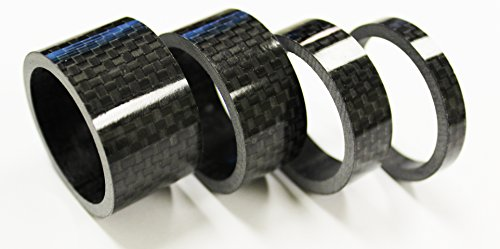 The-Flying-Wheels-4pc-Bike-Bicycle-Full-Carbon-Spacer-1-18-20-15-10-5-mm-Black-0