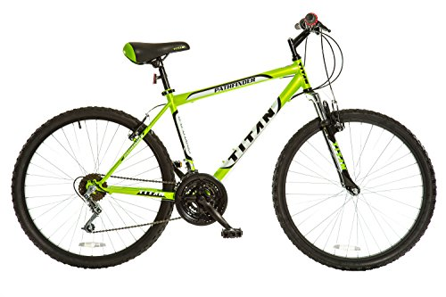 Titan-Pathfinder-Mens-18-Speed-All-Terrain-Mountain-Bike-with-Front-Shock-Suspension-Lime-Green-0