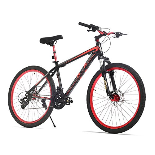 URSTAR-26-Aluminum-24-Speed-Mountain-Bike-with-Front-and-Rear-Disc-Brakes-BlackRed-0