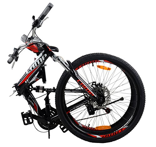Camp-26-Alloy-Folding-Mountain-Bike-Shimano-21-Speed-Dual-Suspension-MTB-Rocky-0