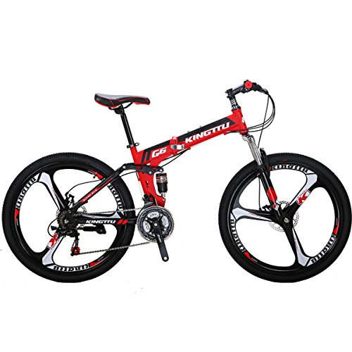EUROBIKE-Kingttu-G6-21Speed-26Inch-Moumtain-Bike-3Spoke-Wheels-Dual-Disc-Brake-Folding-Bike-0