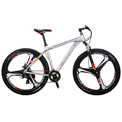 EUROBIKE-Mountain-Bike-21-Speed-3-Spoke-29-Inches-Wheels-Dual-Disc-Brake-Aluminum-Frame-MTB-Bicycle-Silver-0