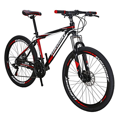 EUROBIKE-X1-GTR-Aluminium-Mountain-Bike-21-Speed-Shifting-26-Inches-Wheel-Dual-Disc-Brake-MTB-Bicycle-Black-Red-0
