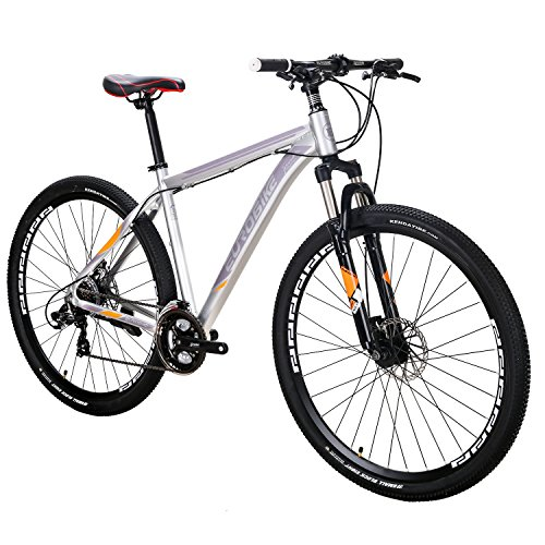 EUROBIKE-X9-Mountain-Bike-21-Speed-29-Inches-Wheels-Dual-Disc-Brake-Aluminum-Frame-MTB-Bicycle-Silver-0