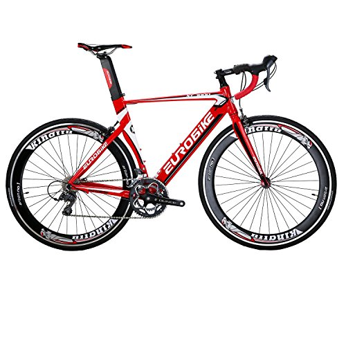 EUROBIKE-XC7000-Road-Bike-54CM-Light-Aluminum-Frame-16-Speed-700C-Road-Bicycle-Red-0