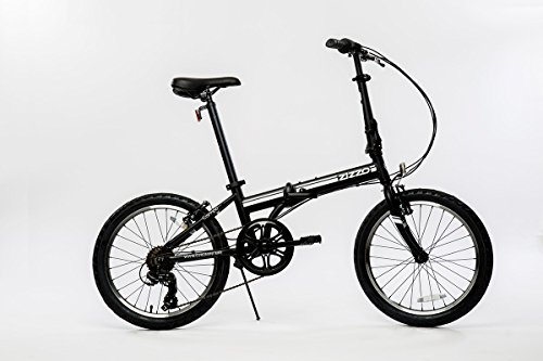 EuroMini-Campo-Lightweight-Aluminum-Frame-Shimano-7-Speed-28Lb-Folding-Bike-Matte-Black-11One-Size-0