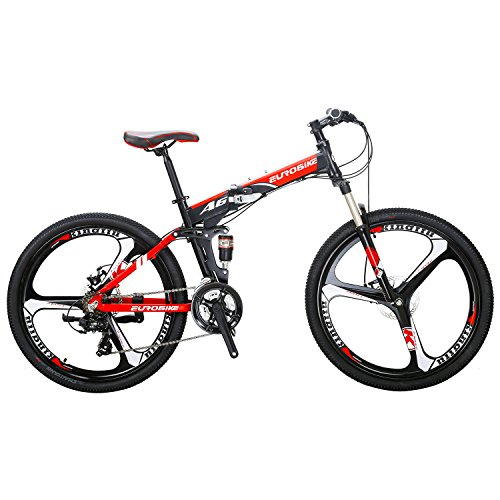 Eurobike-A6-Aluminum-Mountain-Bike-21-Speed-26-Inch-3-Spoke-Wheels-Dual-Suspension-Folding-Bike-Black-red-0