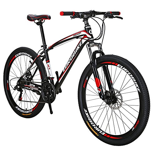 Eurobike-Moutain-Bike-X1-21-Speed-MTB-275-Inches-Wheels-Dual-suspension-Mountan-Bicycle-Black-Red-0-0