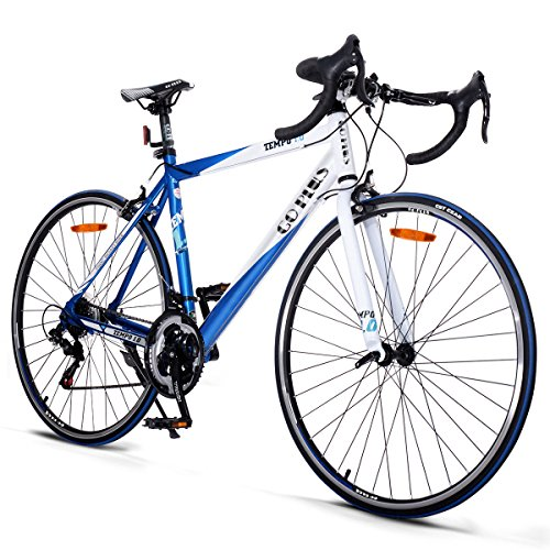 Goplus-Commuter-Bike-Road-Bike-Quick-Release-Aluminum-700C-Shimano-21-Speed-Blue-0