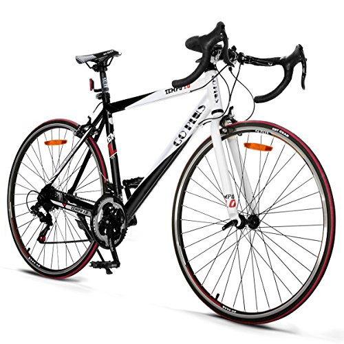 Goplus-Commuter-Bike-Road-Bike-Quick-Release-Aluminum-700C-Shimano-21-Speed-Red-0