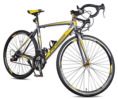 Merax-Finiss-Aluminum-21-Speed-700C-Road-Bike-Racing-Bicycle-Yellow-Gray-56-cm-0