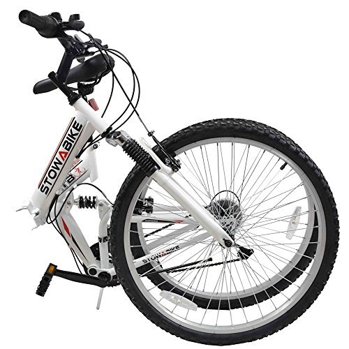 Stowabike-26-MTB-V2-Folding-Dual-Suspension-18-Speed-Shimano-Gears-Mountain-Bike-White-Certified-Refurbished-0