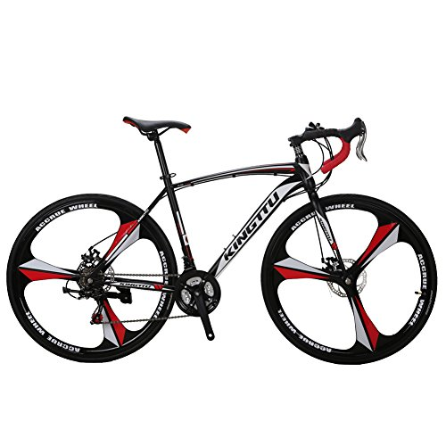 VTSP-XC550-Road-Bicycle-700Cx28C-Steel-Hard-Frame-21-Speeds-Road-Bike-Solid-Wheel-Integrated-Wheel-Curved-Handlebar-Double-Disc-Brakes-Cycling-Gifts-For-Man-Promotion-US-Warehouse-WHITE-0