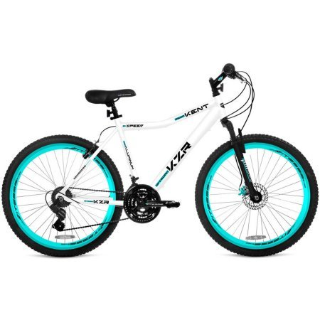 26-Womens-Kent-KZR-Mountain-Bike-WhiteTeal-21-speed-Shimano-drivetrain-WhiteTeal-0