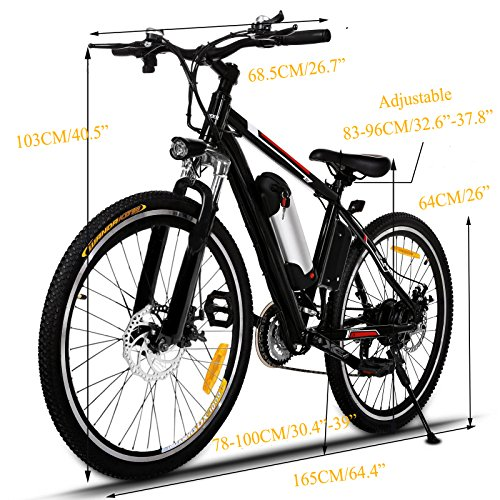 Dtemple-26-Aluminum-Alloy-Frame-Electric-Mountain-Bike-250W-Electric-Bike-with-36V-8AH-Removable-Lithium-Ion-Battery-for-Adults-and-Teens-US-STOCK-0-1