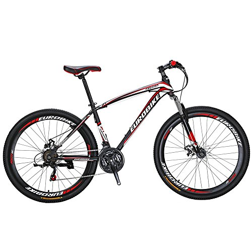EUROBIKE-X1-Mountain-Bike-21-Speed-275-Inch-Wheels-Suspension-Fork-Mountain-Bicycle-Black-red-0