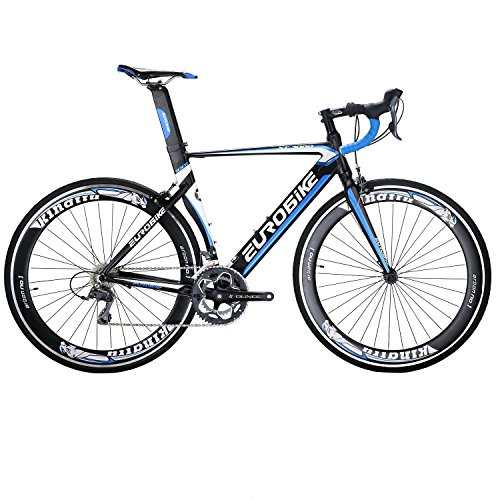 EUROBIKE-XC7000-Road-Bike-54CM-Light-Aluminum-Frame-16-Speed-700C-Road-Bicycle-Blue-0