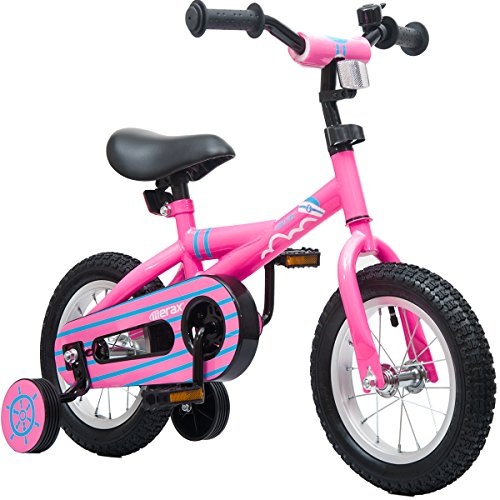 Mearx-Childrens-Bike-with-Training-Wheels-12-Inch-Pink-0